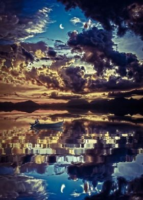 Reflection Sky Clouds