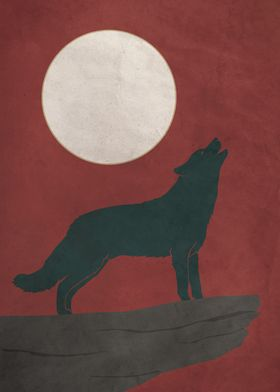 Howling Wolf Red Dusk