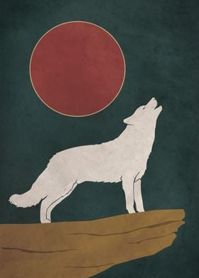 Howling Wolf Moonlit Night
