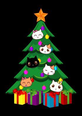 Cat Christmas Tree  Xmas