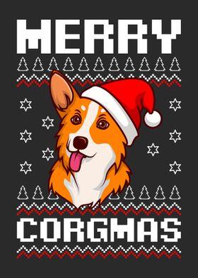 Corgi Dog Christmas Xmas