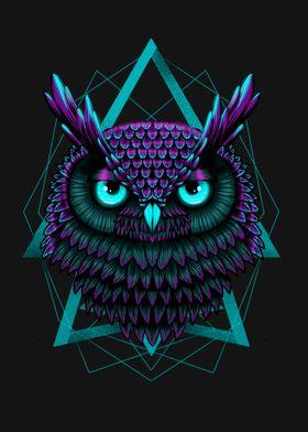 Neon Eyes Owl