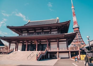Tokyo Tower and Temple