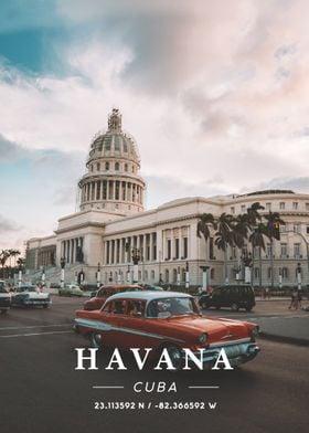 Havana Coordinate Art