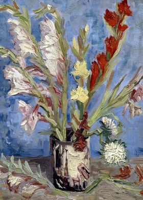 Gladiolus and Asters