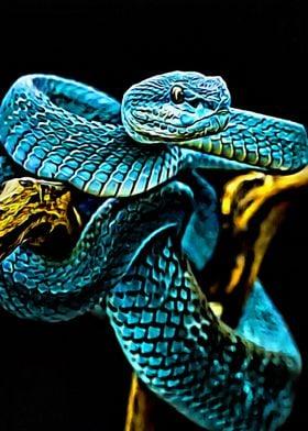 Glowing Green Snake