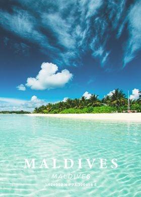 Maldives Coordinate Art