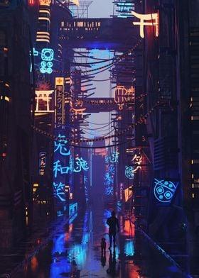 Concept Cyberpunk City