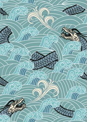 Japanese Dragon Waves