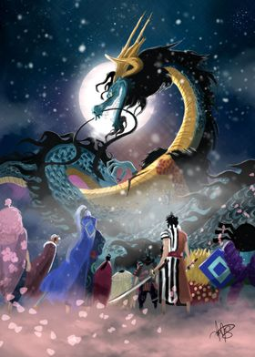 Kaido vs Nine Scabbards