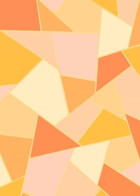 Yellow Orange Geometric 1
