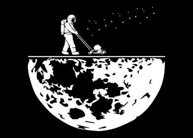 Astronaut Mowing