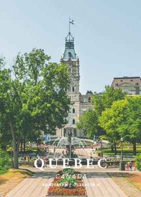 Quebec Coordinates Art