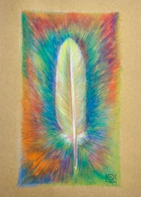 aquarelle feather handdraw