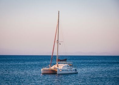 A boat sailing on the wate