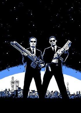 Men in Black pop art