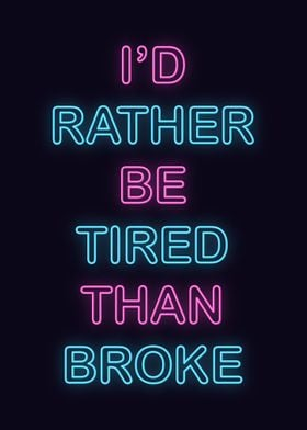 Neon Motivational Quote