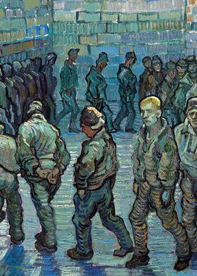 Van Gogh Prison Courtyard