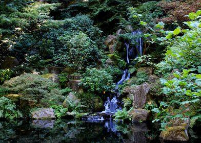 Peaceful Flowing Waterfall