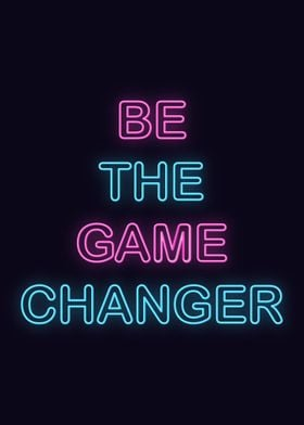 Neon Motivation Quote