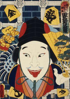 Japanese kabuki actor