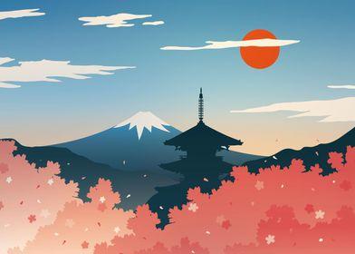 Rising sun landscape