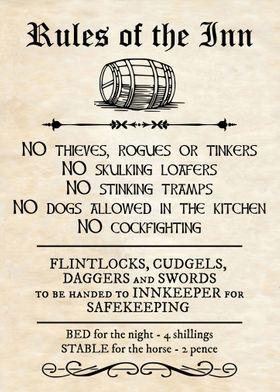 RULES OF THE INN CELTIC
