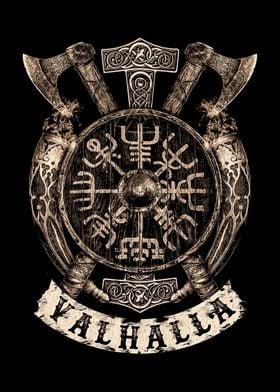 Viking Vegvisir Shield
