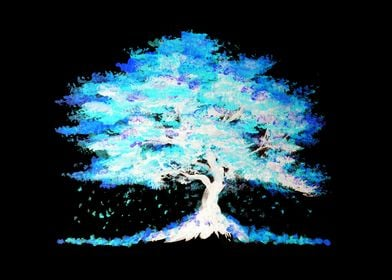 Luminescent Blue Tree