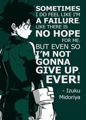 Izuku Midoriya Anime Quote