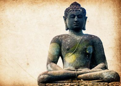 Buddha Statue in gray