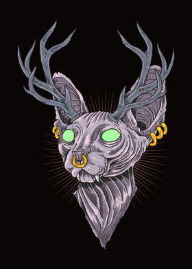cat sphynx illustration