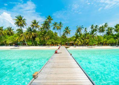 Tropical island beach gift