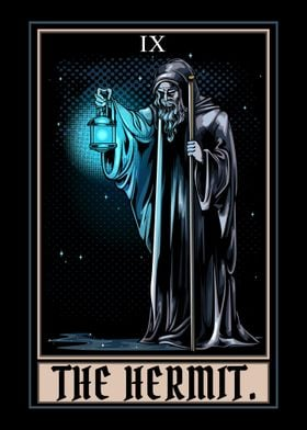 The Hermit Tarot Card Goth