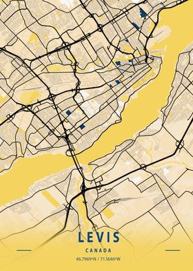 Levis Yellow City Map
