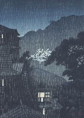 Spring Rain At Tochinoki