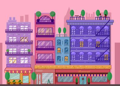 PInk City Illustration