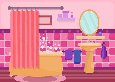Fun Pink Bathroom