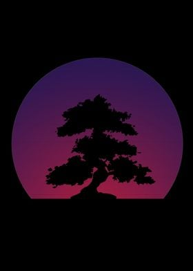 Purple Bonsai Synth Sunset