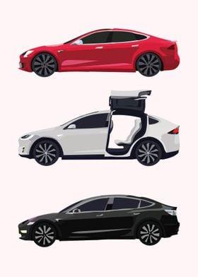 Minimalist Tesla Cars 2