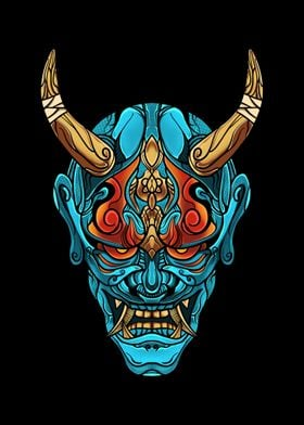 Blue Hanya Mask