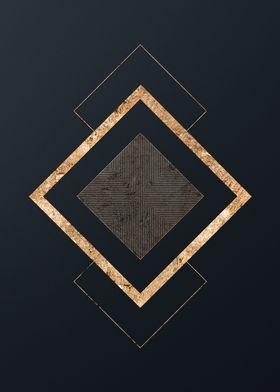 Gold Geometric Glyph