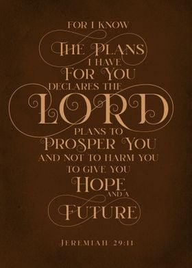 For I Know The Plan