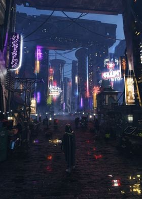 Neon Cyberpunk City