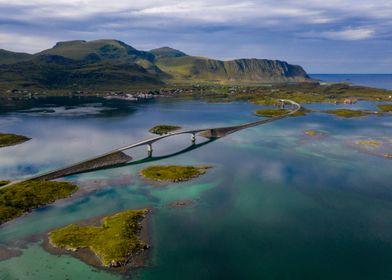 Bridge in Lofoten Norway