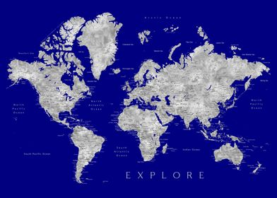 Valrie explore world map