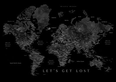 Lets get lost black map