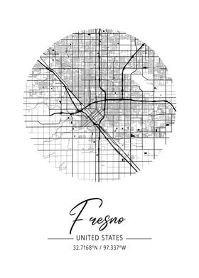 Fresno Area City Map