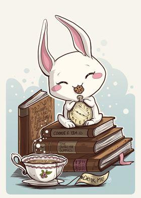 Books Rabbits and Tea