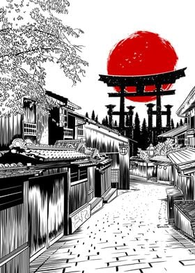Sketch Street Japan Torii